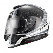 CASCO INTEGRALE NZI - SYMBIO DUO GRAPHICS DART GREY ANTRACITE