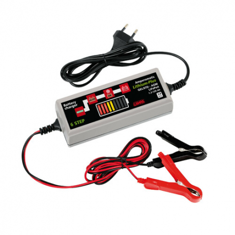 Carica batterie Amperomatic Lithium-Plus, caricabatteria intelligente, 12V - 3,8A